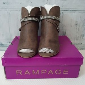 Rampage Meera Peep Toe Ankle Boots Size 7.5M